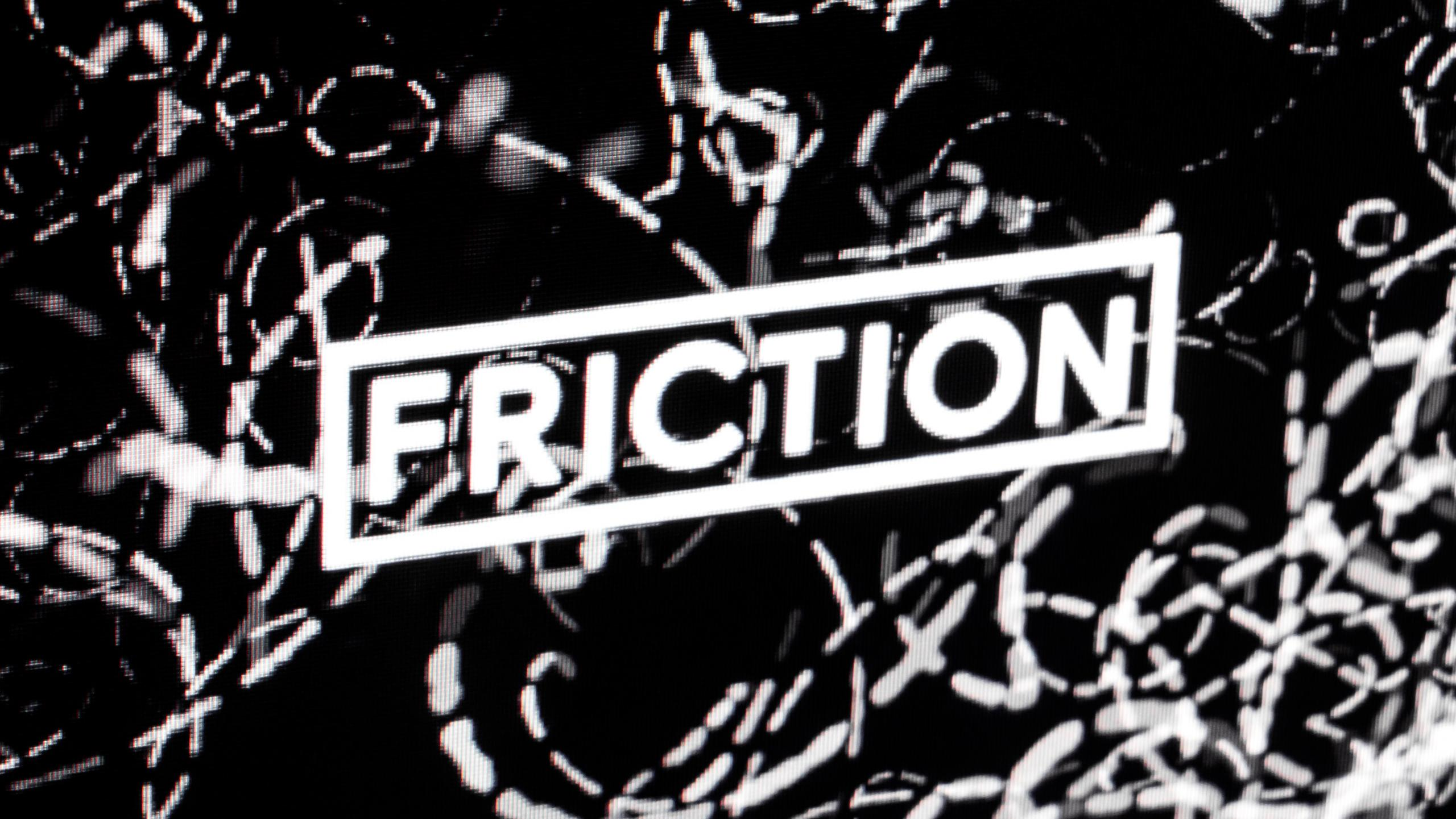 Photo of the website of Friction